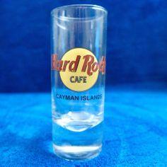 "Hard Rock Cafe CAYMAN ISLANDS 4"" SHOT GLASS with black letters"