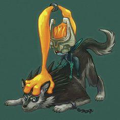 Wolf Link and Midna- The Legend of Zelda: Twilight Princess