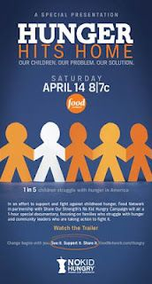 Check out Hunger Hits Home  — a new documentary about childhood hunger in America premiering April 14 at 8pm/7c on Food Network.     In this 1-hour special we take a first-hand look at the crisis of childhood hunger in America through the eyes of the parents, children, activists, educators and politicians on the frontlines of the battle. The program is presented by Food Network and Share Our Strength's No Kid Hungry Campaign.    For a guide with information about hosting…