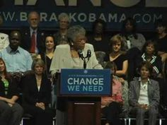 Maya Angelou Introduces Michelle Obama