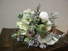 Vintage Antique Bouquet by BranchingOutCo, Appleton Wedding Flowers, Peonies, Kale, brunia, dusty miller, poppy pods, anenomes, amnesia roses    www.branchingoutco.com