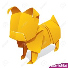 Yellow pug icon isolated on white background. Concept of natural pet food or 2018 Chinese New Year symbol , New Year Symbols, Natural Pet Food, Florist Logo, Origami Paper, Chinese New Year, Pugs, Design Trends, Concept, Digital