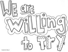 We are willing to Try - Classroom Expectations