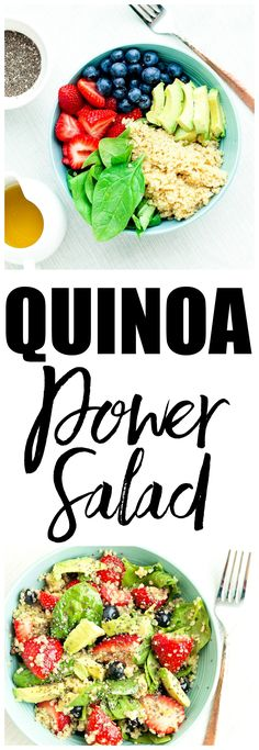 Quinoa Power Salad Recipe. Quick and easy vegan and gluten-free salad recipe that is sure to be a hit!