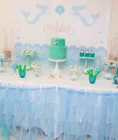 Magical Mermaid Birthday Party styled by Lola & Co featured on Amy Atlas