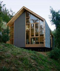 Wrap around roof & glazed gable