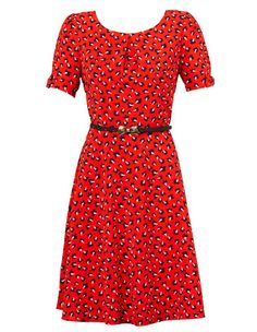 Hi There from Karen Walker Scattered Pod Print Fit and Flare dress