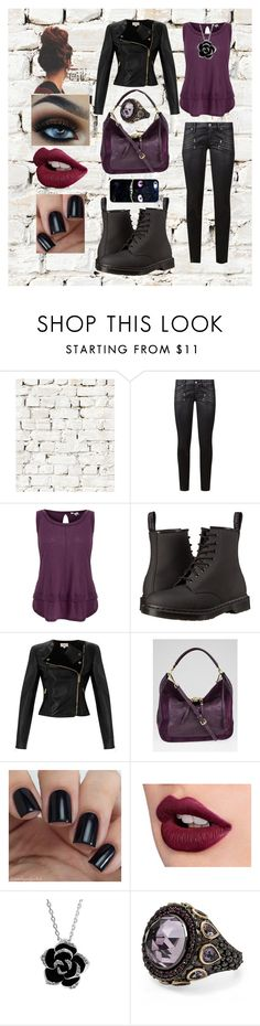 """""""Late Night Date Night"""" by sophia-pawz ❤ liked on Polyvore featuring Milton & King, Paige Denim, Splendid, Dr. Martens, Temperley London, Louis Vuitton, Stephen Dweck, Casetify, DateNight and purple"""