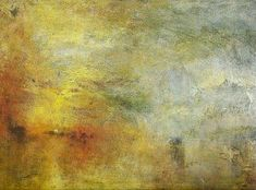 Learn more about Sun Setting over a Lake Turner - oil artwork, painted by one of the most celebrated masters in the history of art. Romanticism Artists, William Turner, Abstract Art, Fine Art, Artwork, Clouds, Paintings, Sun, Inspiration