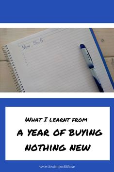 One year ago I set a goal to buy nothing new. It was a very interesting experience to go through and it taught me three major lessons. Very Interesting, One Year Ago, Goals, Teaching, News, Stuff To Buy, Life, Education, Onderwijs