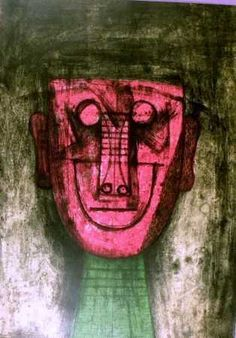 Rufino Tamayo, volto -1974 on ArtStack #rufino-tamayo #art