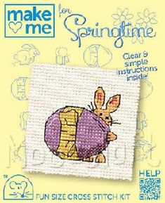 Counted Cross Stitch - Age 7 and over The designs will fit within a diameter circle for framing. Kits contain 14 count Aida (Zweigart), threads (DMC), needle and full instructions Baby Cross Stitch Kits, Cross Stitch Supplies, Counted Cross Stitch Kits, Cross Stitch Embroidery, Craft Kits, Craft Supplies, Craft Materials, Crochet Yarn, Spring Time