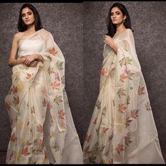 Pakistani Dresses, Indian Sarees, Silk Tops For Women, Hand Painted Sarees, Saree Floral, Organza Saree, Net Saree, Simple Sarees, Elegant Saree