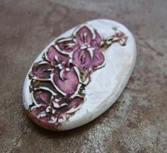 Orchid Stem Pendant by humblebeads on Etsy, $18.00