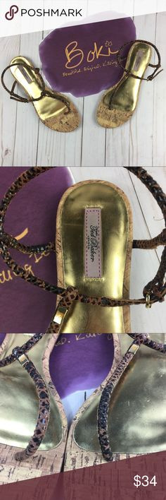 86dd87385175be Ted Baker Exotic Leather Ajania Sandal Size 8 EUC Ted Baker Ajania Sandals  in SIze 8