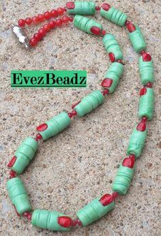 24 Inch Witchy Lady Fingers Lampwork Glass Jade Necklace | evezbeadz - Jewelry on ArtFire