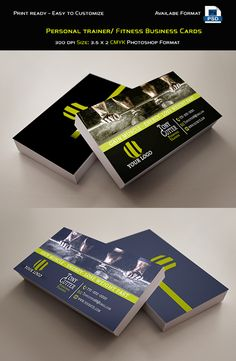 Free personal trainer / fitness business cards on behance Personal Trainer, Business Card Design, Business Cards, Business Ideas, Coach Sportif, Flyer Design Templates, Advertising Design, Health Coach, Trainer Fitness