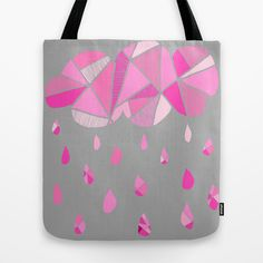 Fractured Pink Cloud Tote Bag by k_c_s - $22.00