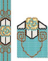 Deco Rose Amulet Peyote Beading Pattern by Charley Hughes AKA BeadyBoop at Bead-Patterns.com