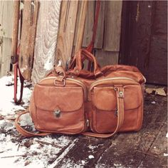 1970 s leather duffle