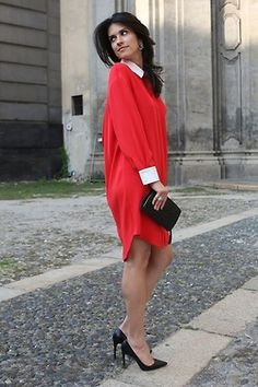 red shirt dress! LOVE IT!