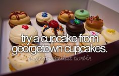 Try a cupcake from Georgetown Cupcakes.