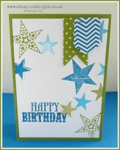 Stampin' Up Simply Stars Graffiti Wall Card Simply Scored card