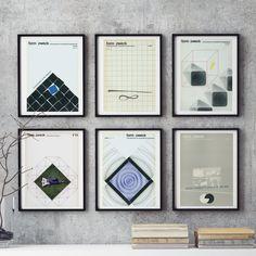 6 piece Wall Art MidCentury GEOMETRIC Graphic Design Retro German Form Zweck Print Reproduction Magazine Print Graphic Designer Gift