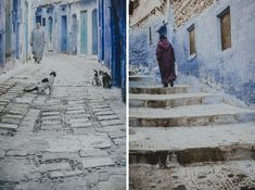 Chefchaouen - mieszkańcy ikoty niebieskiego miasta Painting, Painting Art, Paintings, Painted Canvas, Drawings