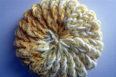 Yellow super scrubby made with nylon net and cotton by pauladyer1, $4.00