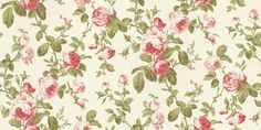 Roselle Feature (68702) - Albany Wallpapers - A bold floral design featuring large trailing roses and foliage. Shown here in red, cream and green. Other colourways are available. Please request a sample for a true colour match. Paste-the-wall product.