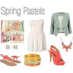 Spring Pastels, created by megankbrown on Polyvore