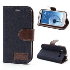 TPU + PU Phone leather Case capa for samsung S3 Jeans coque For Samsung Galaxy S 3 I9300 Bracket Stand s7 s7edge s4mini s4 s5 s6