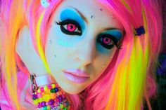 yellow blue pink hair - Google Search