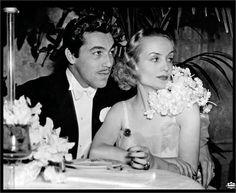 Carole and Caesar Romero, White Mayfair Ball, 1936