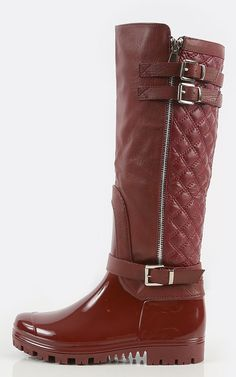 Quilted Strappy Rain Boots