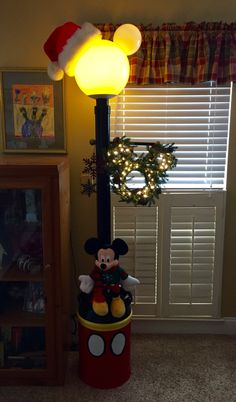 Merry Christmas Mickey Lamp Post For Ft. Wilderness.
