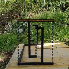 Outdoor Living Furniture, Pallet Patio Furniture, Welded Furniture, Steel Furniture, Gate Design, Door Design, Metal Bending Tools, Gate House, Industrial Table