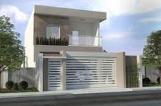 3 bedroom apartment house - All About Balcony House Fence Design, Two Story House Design, Modern House Design, Luxury Home Accessories, Bungalow Haus Design, Townhouse Designs, Modern Mansion, House Elevation, Facade House