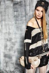 Chic Punk Boho Fashion, Fashion Looks, Womens Fashion, Fashion Styles, Vintage Bohemian, Bohemian Style, Elisa Cavaletti, Lookbook, Knitting Accessories