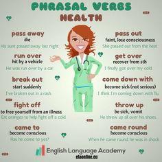 Phrasal verbs- Health #english #ESL #EFL #phrasal verbs #englishlanguageacademy