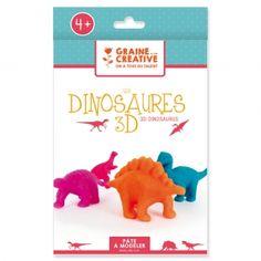 Kit de modelage enfant : Les dinosaures 3D à faire toi-même