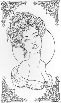 Line Drawing Of Victorian Lady By Angiethepirate Deviantart