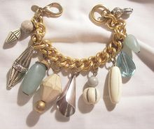 Fun fabulous bold Charm bracelet marked kate Hines wonderful piece