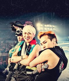T.O.P, Daesung, and G-Dragon