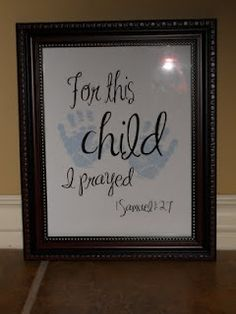 1 Samuel 1:27 ..make sure we pray for our children and give them to the Lord....unconditionally!