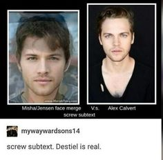 Those pictures look different. They don't even look like the same guy, but they are both hot.