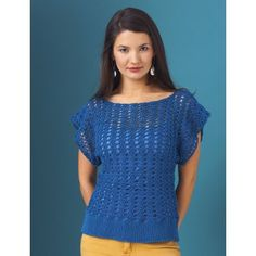 Openwork Top Flattering openwork top with a short flowy sleeve.  Size XS to 4/5XL