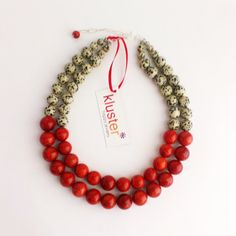 Red Leopard Print Statement Necklace by Kluster Happy by kluster, $145.00