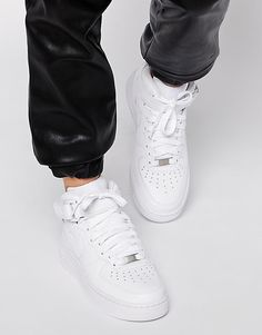 Nike+Air+Force+1+07+Mid+White+Trainers